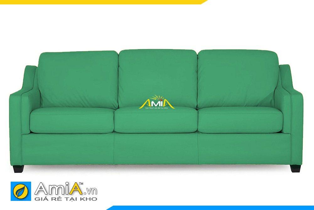 Sofa văng 3 chỗ ngồi màu xanh lính rất thích hợp cho chủ nhân mệnh Mộc hoặc Hỏa