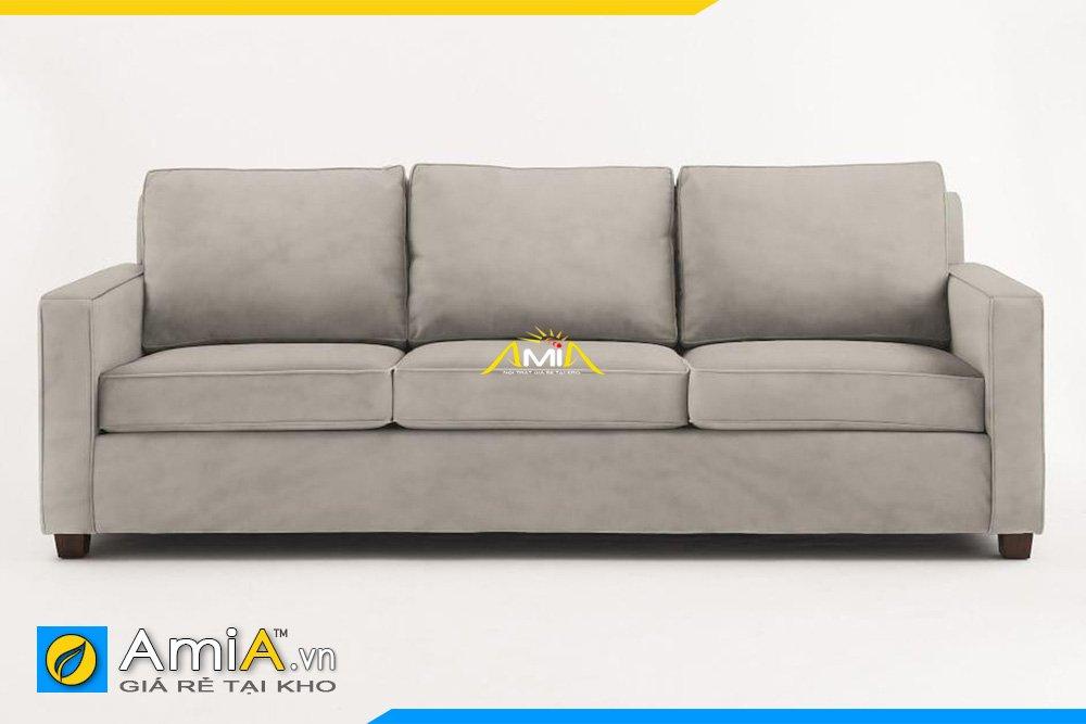 Sofa văng 3 chỗ ngồi kiểu bang dài, tựa tay cao vuông vắn