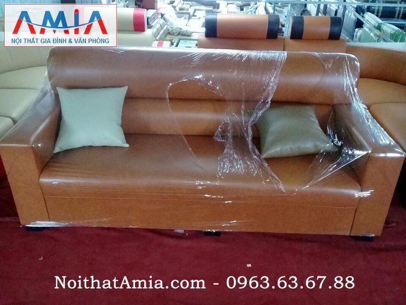 sofa da vang mini cho phong khach