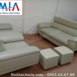 mau sofa da vang cho phong khach