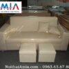 Hinh anh chup thuc te mau sofa vang da 1m8 tai kho noi that AmiA Ha Noi