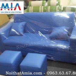 Hinh anh dai dien mau sofa vang da 1m8 mau xanh da troi