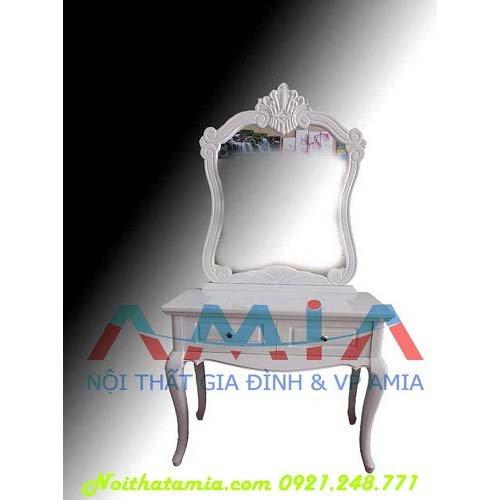 Hình ảnh mẫu bàn phấn, bàn trang điểm đẹp màu trắng AmiA