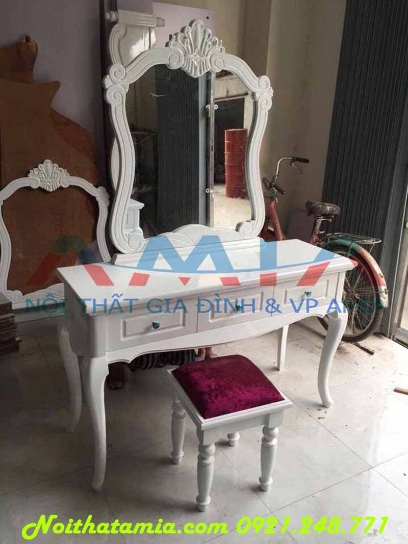 Hình ảnh mẫu bàn phấn, bàn trang điểm đẹp gỗ MDF AmiA BTD03