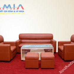 Hinh anh mau ghe sofa da phong lam viec phong khach AmiA