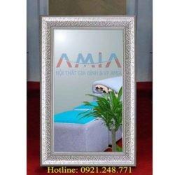 gương soi phòng tắm khung gỗ đẹp giá rẻ tại kho nội thất AmiA