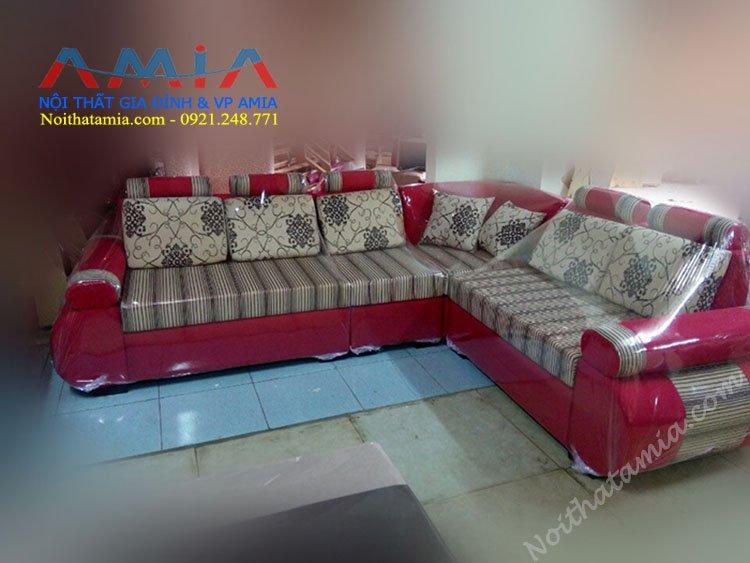 Hinh anh sofa goc phong khach vai ni SFN 023