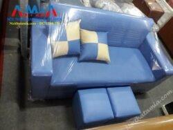 Hinh anh sofa vang mini mau xanh duong gia re