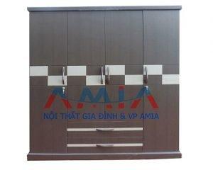 tủ gỗ đựng quần áo đẹp giá rẻ